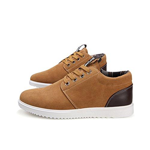 LnLyin Herren Schuhe Low Top Sneaker Herren Schuhe Fall Beiläufige Freizeit Schuhe für Mann Schuhe Moderne Schuhe Khaki 44