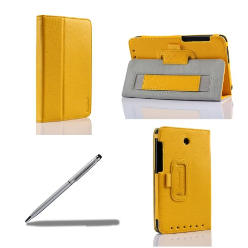 ProCase 2013 version ASUS MeMO Pad HD 7 ME173X Protective Case with bonus  stylus pen - Flip Stand Leather Cover Case exclusive for 2013 version ASUS