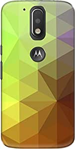The Racoon Lean printed designer hard back mobile phone case cover for Motorola Moto G Plus 4th Gen. (Yellow Cry)