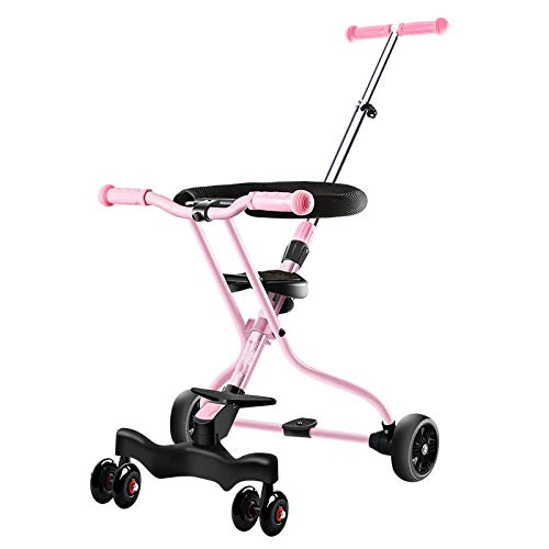 ZHIJINLI WA Artifact Baby Stroller Fence Tricycle Light Baby Car Umbrella Cart Folding Collapsible Princess Powder + small Ocean Umbrella - Lite Cart