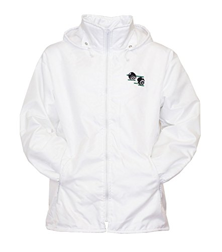 Mens-Bowling-Jacket-Fully-Fleece-Lined-Waterproof-Hoodded-Jackets-Detachable-Hood-White-With-Bowls-Bowlers-Embroidered-Logo