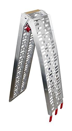 Preisvergleich Produktbild Alu Auffahrrampe Motorradrampe Rampe Auffahrschiene Motorradrampen klappbar bis 340 Kg belastbar