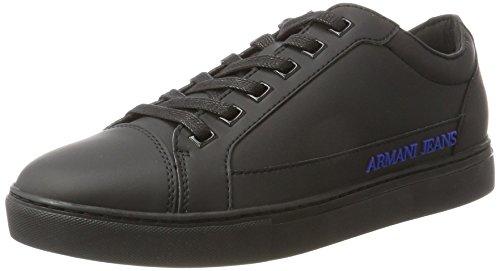Armani Jeans Herren Sneaker Low Cut, Schwarz (Nero), 41 EU