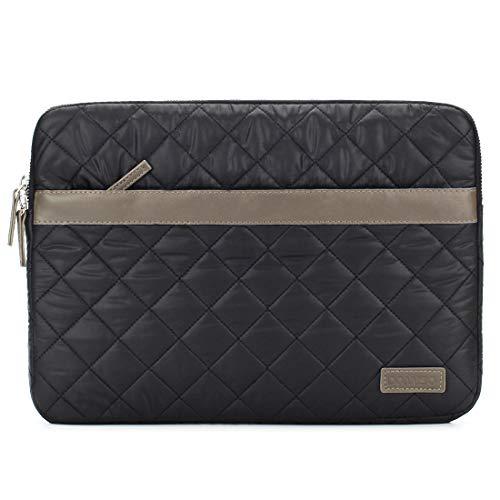 domiso 39,6cm Laptop Sleeve Soft Nylon Computer Bag Notebook Tasche Schutzhülle Cover Tablet Tasche mit Fluff für HP/Microsoft/Apple/Lenovo/Acer/Asus, Schwarz -