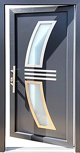 Nr.1 Hauseingangstür 100 x 210 cm, Öffnet nach innen links, Haustür, Haustüren, Außentür, Kunststofftür, Tür mit Glaseinsatz, Wohnungstür, Wohnungstüren, Tür, Türen, Neue Tür