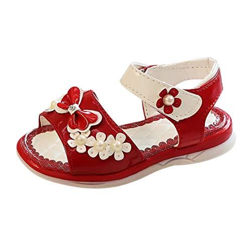 Mitlfuny Damen Vintage Rockabilly Swing Kleider,Kinder Kleinkind Kinder Baby Mädchen Perle Bowknot Blume Prinzessin Sandalen ()