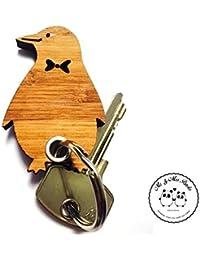 Mr. & Mrs. Panda llavero Pingüino–100% fabricado en Alemania–Pingüino del Norte, Iceberg, Polo Norte, traje, mosca, pecio, Pingu llavero, colgante, amuleto de la suerte, regalo, ideal para regalar, llavero