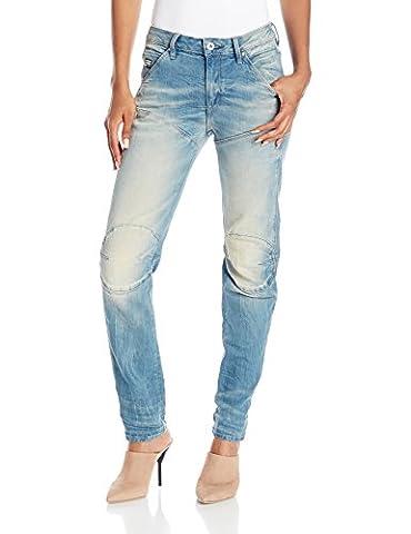 G-Star Damen 5620 3D Low Boyfriend Jeans, Blau (light aged), 27/28