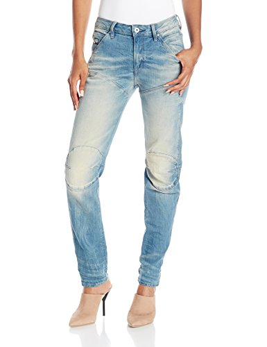 G-Star Damen 5620 3D Low Boyfriend Jeans, Blau (light aged), 27/30 (Damen Star Jeans)