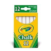 PACK OF 3 - Crayola - Anti Dust White Chalk (36 Chalks)