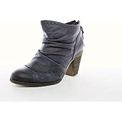 DKODE Damen Schuhe Pumps Stiefeletten Dunkel Blau Leder : 37 Größe 37