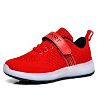 Ali-tone LED Light up 7 Colors Shoes Kids Boys Girls USB Charging Low Top Sneakers Flashing Shoes Toddler Casual Shoes Birthday Present
