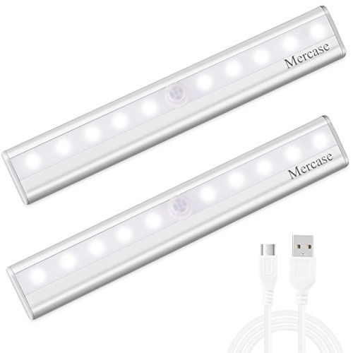 Mercase LED Sensor Luz del Armario USB Recargable Magnético Stick-on Anywhere
