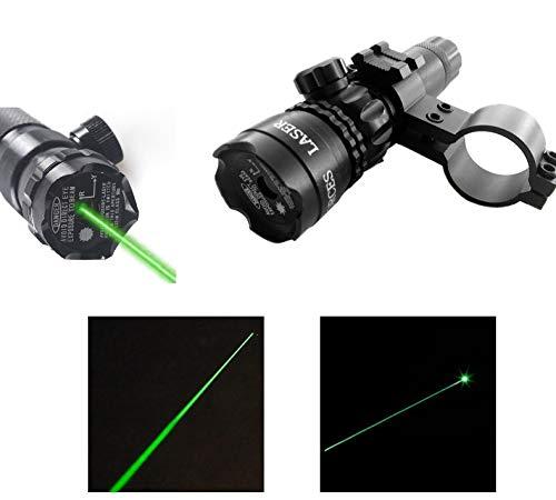 PRICEKILLER - PUNTATORE Laser Set LED Verdi per Softair Paintball Fucile Pistola TIRO Mira MIRINO Kit per Fucile E Pistola CARICABATTERIA