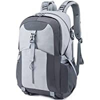 Casual Backpack, Water Resistant Slim Lightweight Laptop Rucksack For Men/Women, Large Travel/Hiking/Cycling Daypacks With Earphone Hole, College/High School Bags For Boys/Girls -32L, Grey