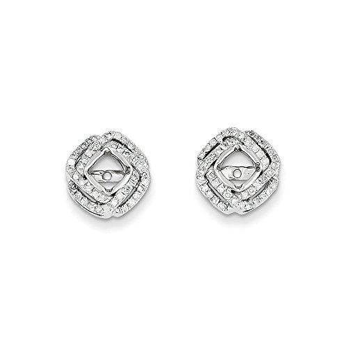 Gold-diamant Ohrringe Quadratischer (14K Weiß Gold Diamant Quadratisch Ohrring Jacke, Diamant ctw 0,35)