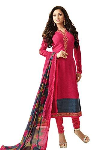 Special Mega Sale Festival Offer C&H Pink Crepe Semi-Stitched Salwar Suits