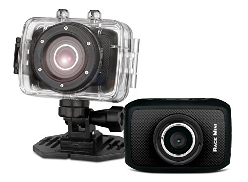GoXtreme Easypix Race Mini HD Aktion-Kamera mit wasserdichtem Gehäuse (720p, 1,3 Megapixel, CMOS-Sensor, 4,5 cm (1,7 Zoll) Display, microSD Kartenslot, USB, Li-Ion Akku) schwarz