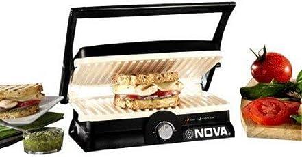 (CERTIFIED REFURBISHED) Nova NGS 2455 1500-Watt 3-in-1 Grill Sandwich Maker (Black/Grey)