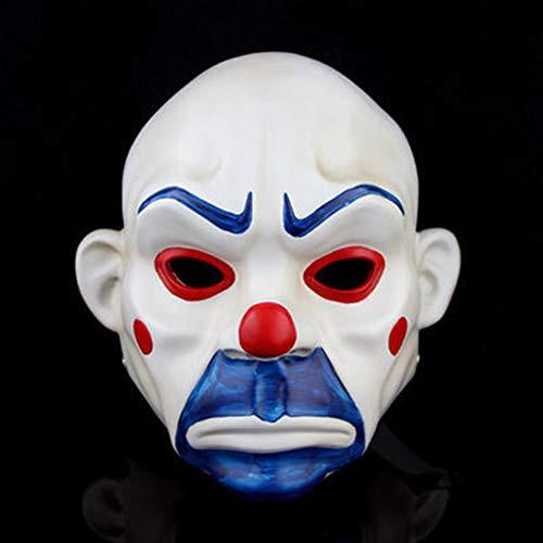 BERID Halloween-Clown-Kopf Maske, Clown-Räuber Maske, Kreatives Harz Vizard-Maske, Party, Maskerade Und Cosplay-Maske