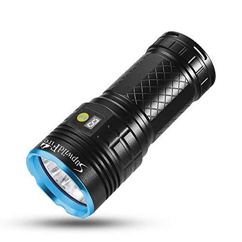 Pingtr 30000 lúmenes 10x XM-L T6 LED Linterna 3 Modos