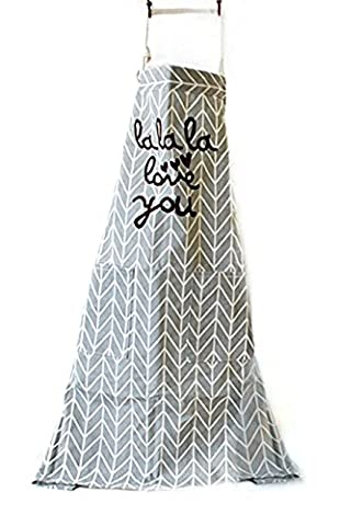 Adjustable Bib Apron with Pockets- Extra Long Ties, Commercial Grade, Unisex -?Geometric Arrow Gray Patterns Chef Apron for Cooking, Grill and