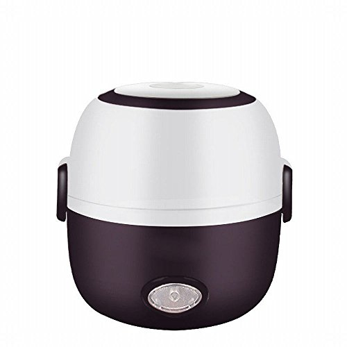 DHG Mini-Cuiseur à Riz Cuisinant des Boîtes Électriques Électroniques à Double Couche,Marron