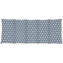 Sabeatex® Marken-Kirschkernkissen für die Wärme- und Kältebehandlung entwickelt. Biologisch wertvoll und in Handarbeit hergestellt, 100 % Baumwolle, Größe: 50 x 20 cm (Grau)