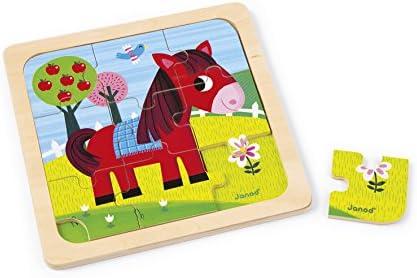 Janod - Puzzle 7 Pièces en Bois | Emballage Solide