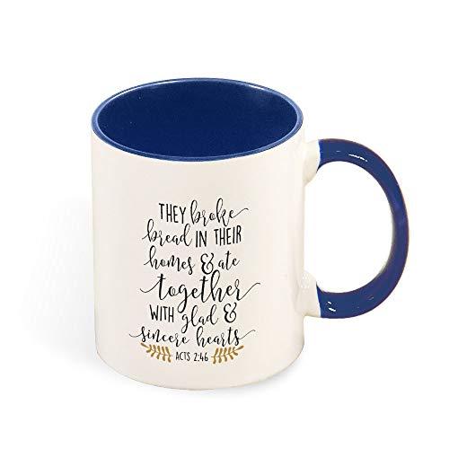 DKISEE Kaffeetasse, bunte Acts 2 46, 313 ml, Keramik, für Geburtstag, Weihnachten, Jahrestag, Gag Geschenke, Geschenkidee - Hellblau 11 oz dunkelblau