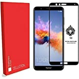 CELLUTION™ Full Glue Huawei Honor 7X Full Coverage 5D Tempered Glass, Full Edge-to-Edge 5D Screen Protector For Honor 7X - Black
