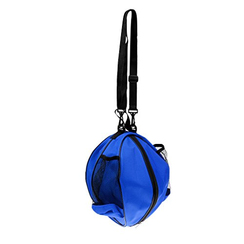 perfk Basketball Tragetasche Balltasche Ballsack Volleyball Fußball Tasche Wasserdicht - Blau-Schwarz
