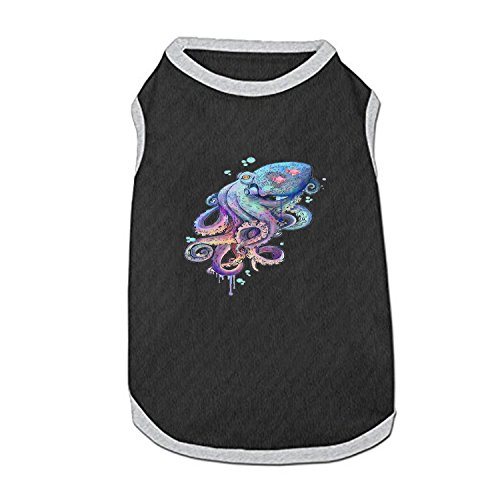 DGGGD Hund Weste, Farbige Octopus Bedruckt Pet Kleidung Kostüm Kleine Haustiere Hund Puppy Katze Kleidung Bekleidung T Shirt Weste