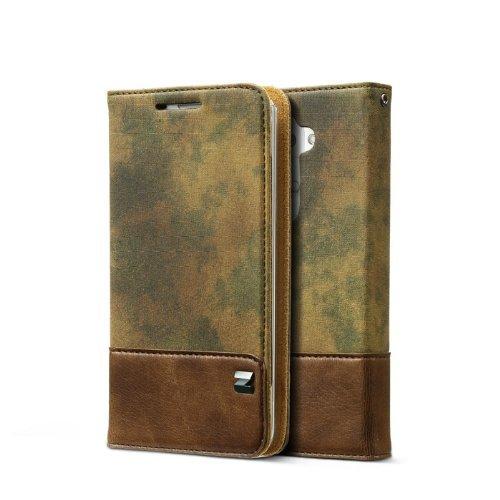 Zenus Camo Diary Case/Tasche Grün für LG G2
