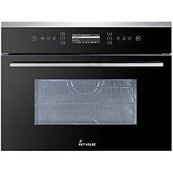 Four micro-ondes intégrable (60cm, 2.6kW, 40L, Autarkic, 3D Air chaud, Grill, SensorTouch, inox et verre, écran LCD, sécurité enfant, 3 niveaux) EBM8501ED - KKT KOLBE