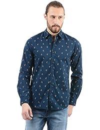 Pepe Jeans Men's Printed Slim Fit Casual Shirt