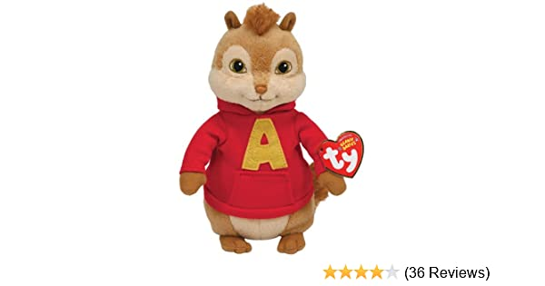 Ty UK Beanie Baby Alvin And The Chipmunks - Alvin Plush Toy  Amazon.co.uk   Toys   Games 9fd42ed590a3