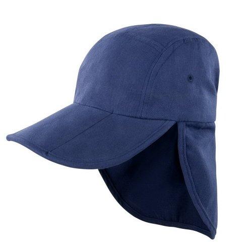 Casquette pliable Result Légionnaire unisexe (Taille unique) (Bleu marine)