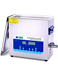 Digital Ultrasonic Cleaner - DK SONIC 6L 180W Sonic Cleaner with Heater Basket Digital Timer for Jewelry,Ring,Eyeglasses,Denture,Watchband,Coins ,Metal Parts,Carburetor,Record,Circuit Board,etc