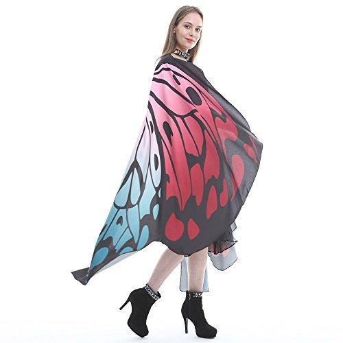 TianWlio Schmetterlingsflügel Schal 168 * 135CM,Loveso Dame Schmetterling Flügel Schals Fairy Göttin Karneval Damen Nympho Pixie Cosplay Weihnachten Cosplay Kostüm Zusatz