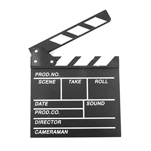 Detectoy Film Clapperboard, Holz 20x20x1.5cm Regisseur Video Szene Clapperboard TV Film Clapper Board Profi Film Slate Cut Prop