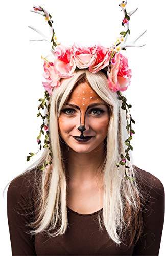 it Blumen und Rosen - Romantischer Kopfschmuck Kostüm Fasching Halloween Cosplay Animé ()