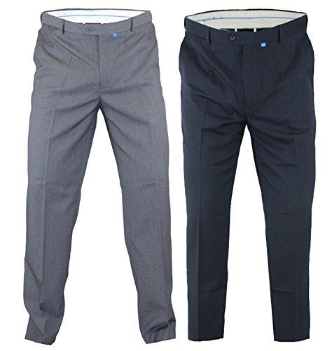 Mens Trousers Big King Size Duke D555 Adjustable Xtenda Waist Smart Casual Pants