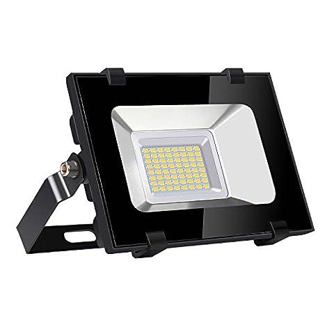 Viugreum 30W LED Outdoor Floodlight, Waterproof IP65, 3600LM, Warm White(2800-3200K),