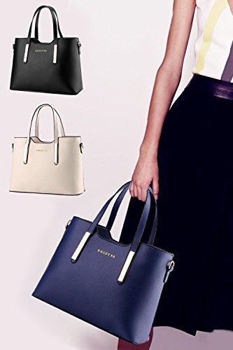 Vococal Les Femmes de Grande Capacité Faux Cuir Sac à Main Épaule Messenger Bag