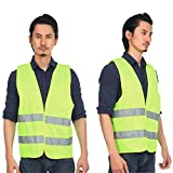 High Visibility Reflective Fluorescent Vest Outdoor Safety Clothing Running Contest Vest Safe Light-Reflective Ventilate Vest