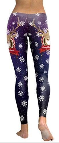 Belsen Damen Leggings schwarz schwarz X-Large Elk snowflakes