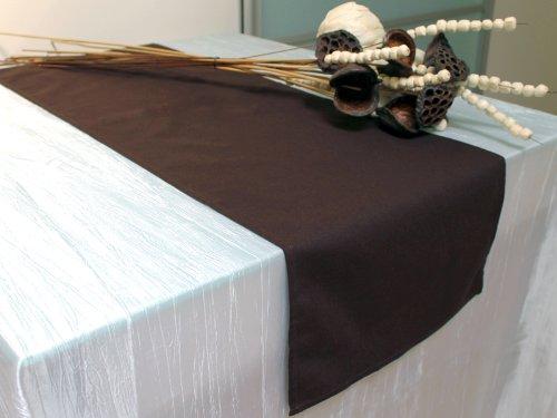 Soleil d'ocre striscia centrotavola rettangolare in cotone riciclato panama cioccolato