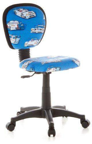 hjh OFFICE 670150 Kinderdrehstuhl KIDDY TOP Netzstoff Autos Kinderbürostuhl mit Rückenlehne, höhenverstellbar