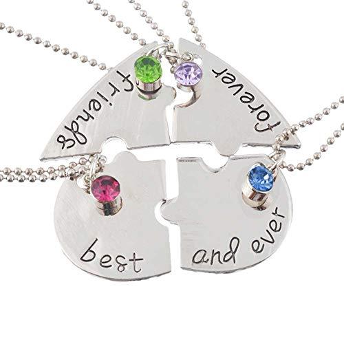 RainBabe Halskette mit Anhänger Best Friends Forever and Ever Joining Together